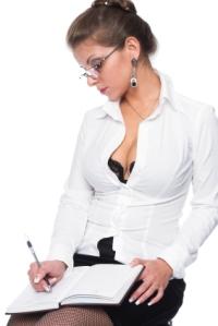 The beautiful secretary