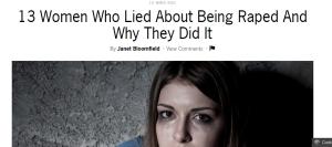 rape lies