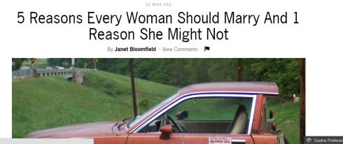Women should marry